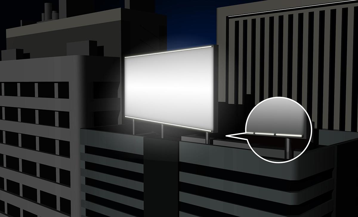 ビルボード外照照明
